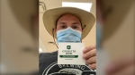 Kevin Dunn received his second dose of the COVID-19 vaccine dose in June, but when he went online to print his vaccination record and download the QR code, he couldn't. (Submitted)