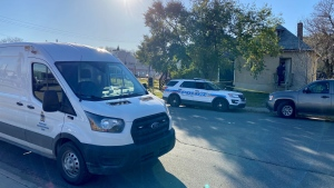 Police are investigating after a man was found dead in a home in the 1000 block of Angus Street. (Gareth Dillistone/CTV News)
