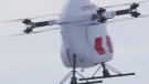 Drone bringing medical supplies to remote areas