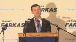Jeromy Farkas congratulates Jyoti Gondek