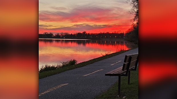 Stunning night sky along Crescent Lake in Portage. Photo by Myrna Nichol.