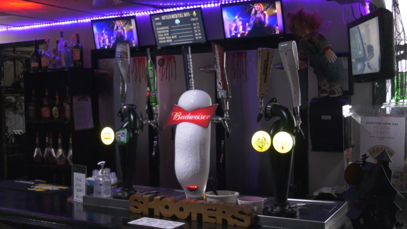 Beer taps at a Sault Ste. Marie bar. Oct. 18/21 (Mike McDonald/CTV Northern Ontario)