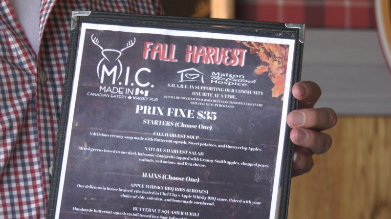 Fall Harvest menu helps support Sudbury's hospice in the Localicious is Delicious campaign. Oct. 18/21 (Alana Pickrell/CTV Northern Ontario)
