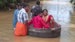Indian couple float to their wedding