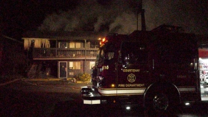 Crews were called to the Travelodge Motel shortly after 3 a.m. and found fire coming out of two upper-floor units when they arrived. (CTV News)