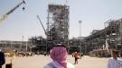 At the Khurais oil field in Khurais, Saudi Arabia, on Sept. 20, 2019. (Amr Nabil / AP)