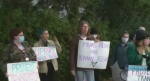 Counter-protesters confront anti-trans activist