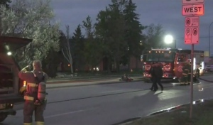 Former Nygard building goes up in flames