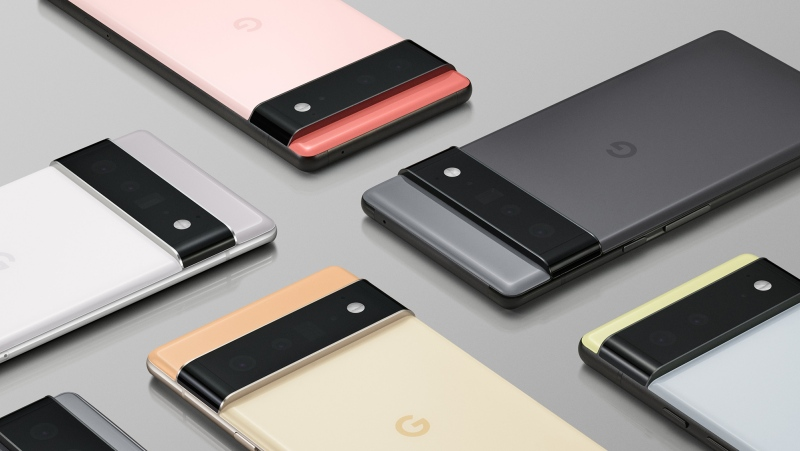 Google showed off the new 6.4-inch Pixel 6 and 6.7-inch Pixel 6 Pro, which run on Android 12 in a virtual press conference Tuesday. (Google via CNN)