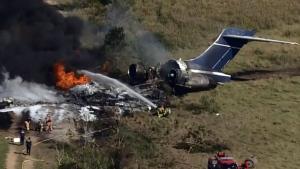 Fiery crash in Texas