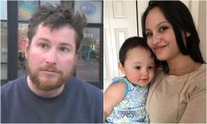 Robert Leeming (left), Jasmine Lovett and her daughter Aliyah Sanderson (right) are shown.