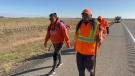 Jasmine Lavallee is in the midst of an inter-provincial walk from Manitoba to the site of the Kamloops Indian Residential School to raise awareness and honour the legacy of residential school victims.