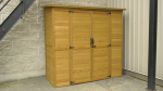 The new food storage shed, donated by the Brockville, Ont. Home Depot, will provide access to free food at the Brockville and Area Food Bank rain or shine. (Nate Vandermeer/CTV News Ottawa)