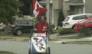 NS man walks home from BC