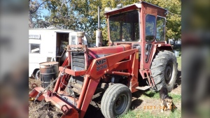 Is this tractor yours? Call Olds RCMP at  403-556-3323.