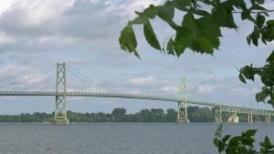 The Ogdensburg-Prescott International Bridge. (Nate Vandermeer/CTV News Ottawa)