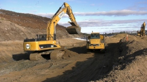 The City of Prince Albert is working to repair pipes under the city's landfill after liquids from decomposing garbage were found leaking in the soil. (Lisa Risom/CTV Prince Albert)