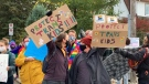 Anti-trans protest draws large counter protest