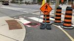 Cyclist hurt hitting construction site pothole