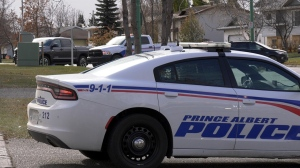 Prince Albert police are pictured in this file photo.