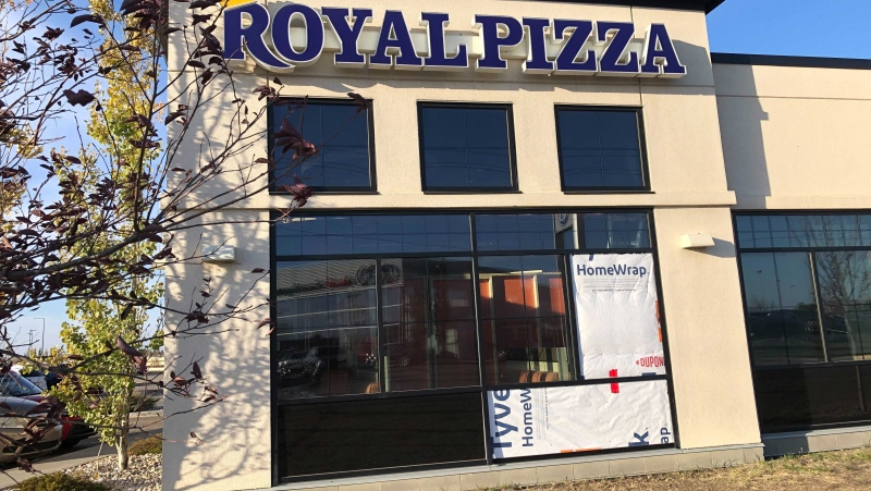 The manager of the Royal Pizza at 1214 101 Street told CTV News said there was a shooting at the restaurant. (CTV News Edmonton)