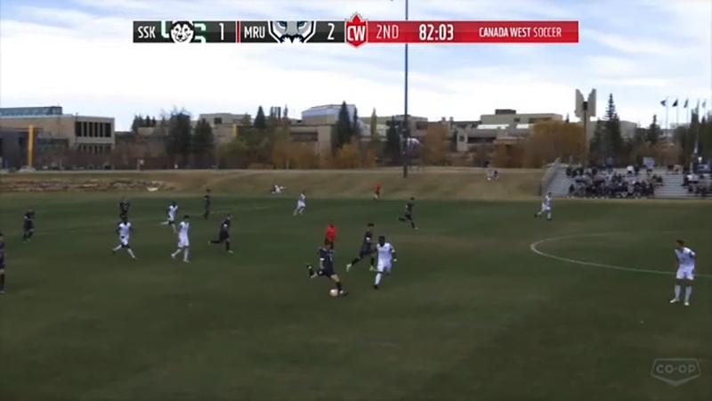 No records are kept for scoring the longest goal in U Sports but the Cougars are quite sure a goal scored on Saturday by Mount Royal's Justin Anderson-Louch from about 70 yards out  would be a record.