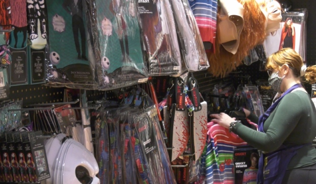 With Halloween less than two weeks away, Halloween stores in Sudbury are seeing some new trends customers are trying out this year. (Molly Frommer/CTV News)