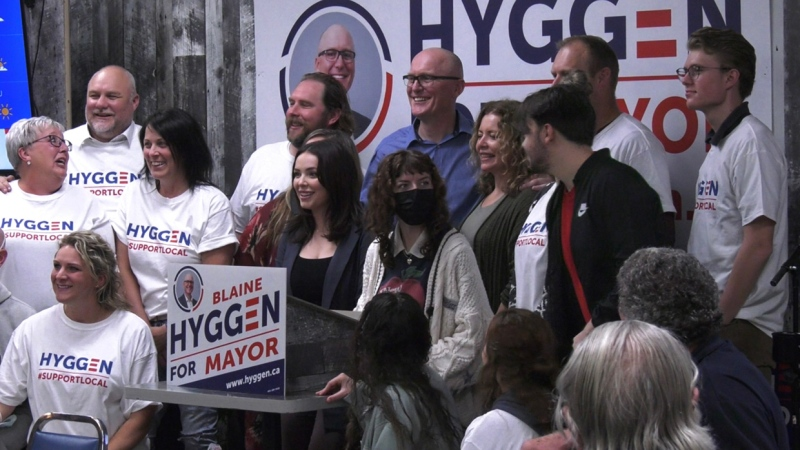 Headlining the night was Blaine Hyggen who narrowly edged out former two-term councillor Bridget Mearns by just 508 votes to become the city's next mayor.
