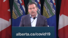 Alberta premier Jason Kenney takes questions from reporters on Oct. 19, 2021 (Source: Government of Alberta).