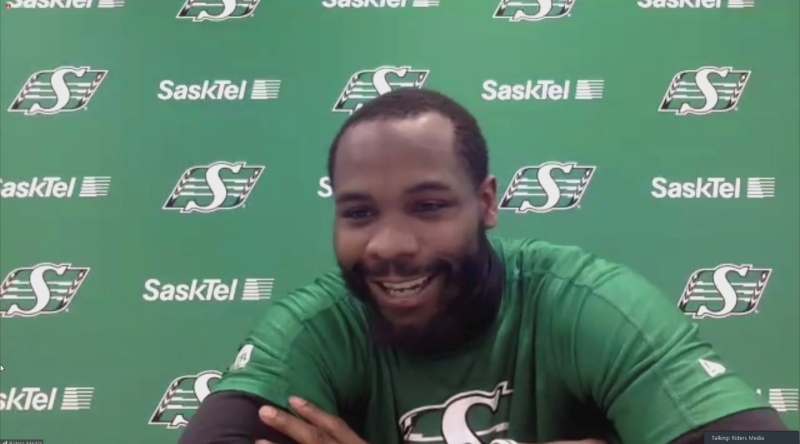 Duke Williams is pictured during a virtual scrum on Oct. 19. (Kaylyn Whibbs/CTV News)