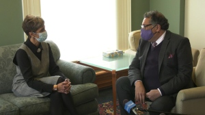 The mayor-elect met with outgoing mayor Naheed Nenshi Tuesday, just hours after Jyoti Gondek earned 45 per cent of the vote in the race to become Calgary's next mayor.