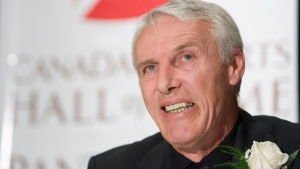 Canada's Sports Hall of Fame inductee, former hockey great Mike Bossy, smiles during a news conference in Toronto on Thursday Oct. 25, 2007. THE CANADIAN PRESS/Frank Gunn
