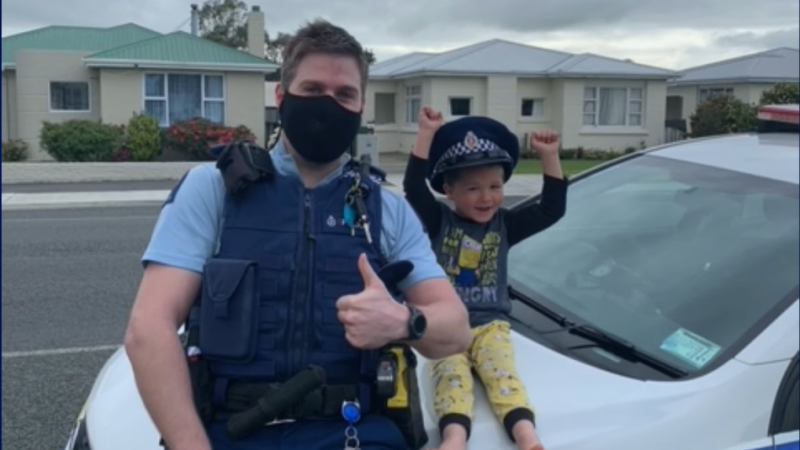 A boy in New Zealand phoned the police to tell them about his toys. (New Zealand Police/ Facebook)
