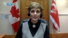 CTV News anchor Tara Nelson interviews Calgary mayor-elect Jyoti Gondek