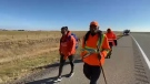 Jazz Lavallee is walking across Western Canada in honour of the 215 bodies found in an unmarked grave at the Kamloops Indian Residential School.