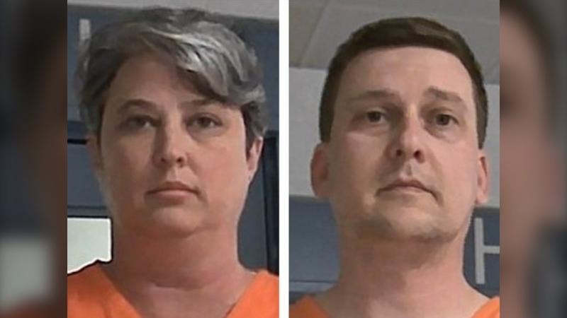 Jonathan Toebbe and Diana Toebbe in Oct. 9, 2021 booking photos. (West Virginia Regional Jail and Correctional Facility Authority via AP)