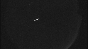 Orionid meteors appear every year around October when Earth travels through an area of space littered with debris from Halley's Comet. (NASA/JPL)