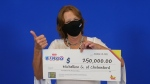 Michelline Giguere of Chelmsford won $250,000 playing a lottery scratch ticket. (OLG)