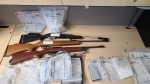 OPP seized drugs, weapons and paraphernalia from a rural property in East Garafraxa, Ont., on Tues., Oct. 19, 2021 (Supplied)