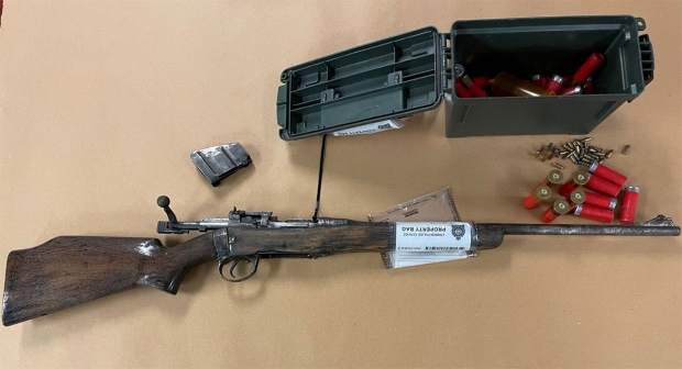 A firearm seized in London, Ont. on Tuesday, Oct. 20, 2021 is seen in this image from the London Police Service.