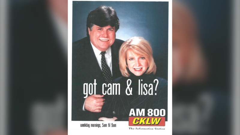 Cam Gardiner (left) with co-host Lisa Williams. (Courtesy AM800)