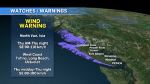 Wind conditions will ramp up starting early Thursday in the overnight period. (CTV News)