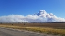 Smoke from the Bell fire, north of Hudson Bay. (Prince Albert Grand Council/Submitted)