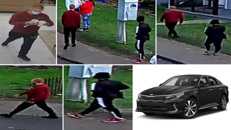 Kingston police want to trace the movements of the two men pictured, who were shot on Oct. 16, 2021. Both men have died. A black 2016 Kia Optima, an example of which is pictured, is also part of the investigation. (Photos submitted by Kingston police)