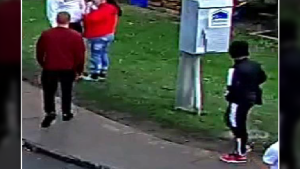 Kingston police are asking for information regarding the movement of these men, who were seen Saturday, Oct. 16, 2021 in the University District. They were later shot and killed. (Photo submitted by Kingston police)