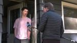 Area-resident Evan Glosser speaks to CTV News Edmonton's David Ewasuk about a sex assault in Montrose, on Oct. 20, 2021 (Evan Klippenstein/CTV News Edmonton).