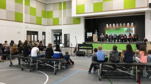 Officials mark the grand opening of a new elementary school in Weyburn. (Taylor Rattray/CTV News)