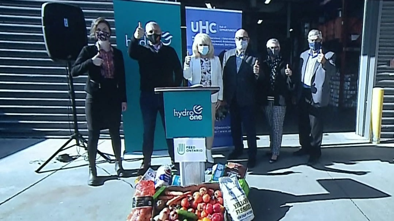 Hydro One to help fill food bank shelves
