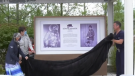 Royal Victoria Regional Health Centre in Barrie, Ont., becomes the first public health care centre in Canada to install a legacy space unveiled on Wed., Oct. 20, 2021 (Katelyn Wilson/CTV News)