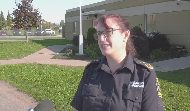 Kate Kirkham brings more than 24 years of experience as a paramedic to her new role as the Sault Ste. Marie's paramedic chief, becoming the first woman to hold the role in the city. (Photo from video)
